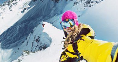 Bagajul de ski al unei femei moderne